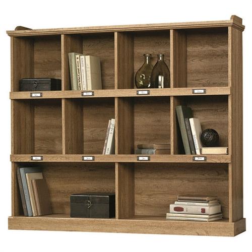 Scribed Oak Wood Finish 53-inch Wide 3-Shelf Bookcase Bookshelf - Made in USA